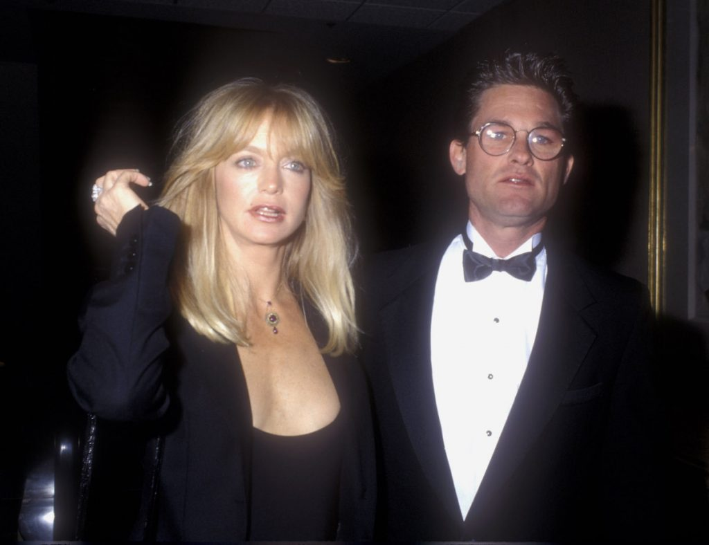"""Goldie Hawn and Kurt Russell during """"Mermaids"""" Premiere at The Academy in Beverly Hills, California 
