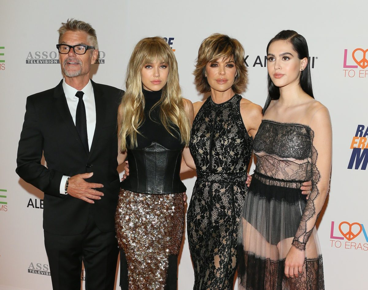 Lisa Rinna, Harry Hamlin, and their daughters