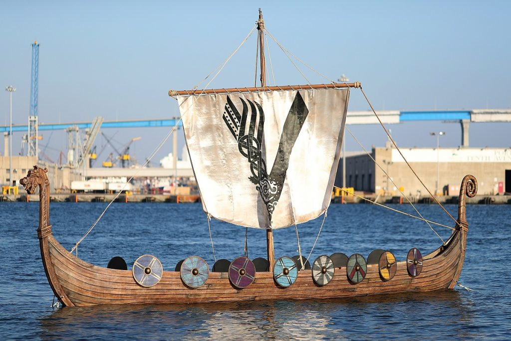 The Viking ship for History's 'Vikings' at San Diego Comic-Con 2017
