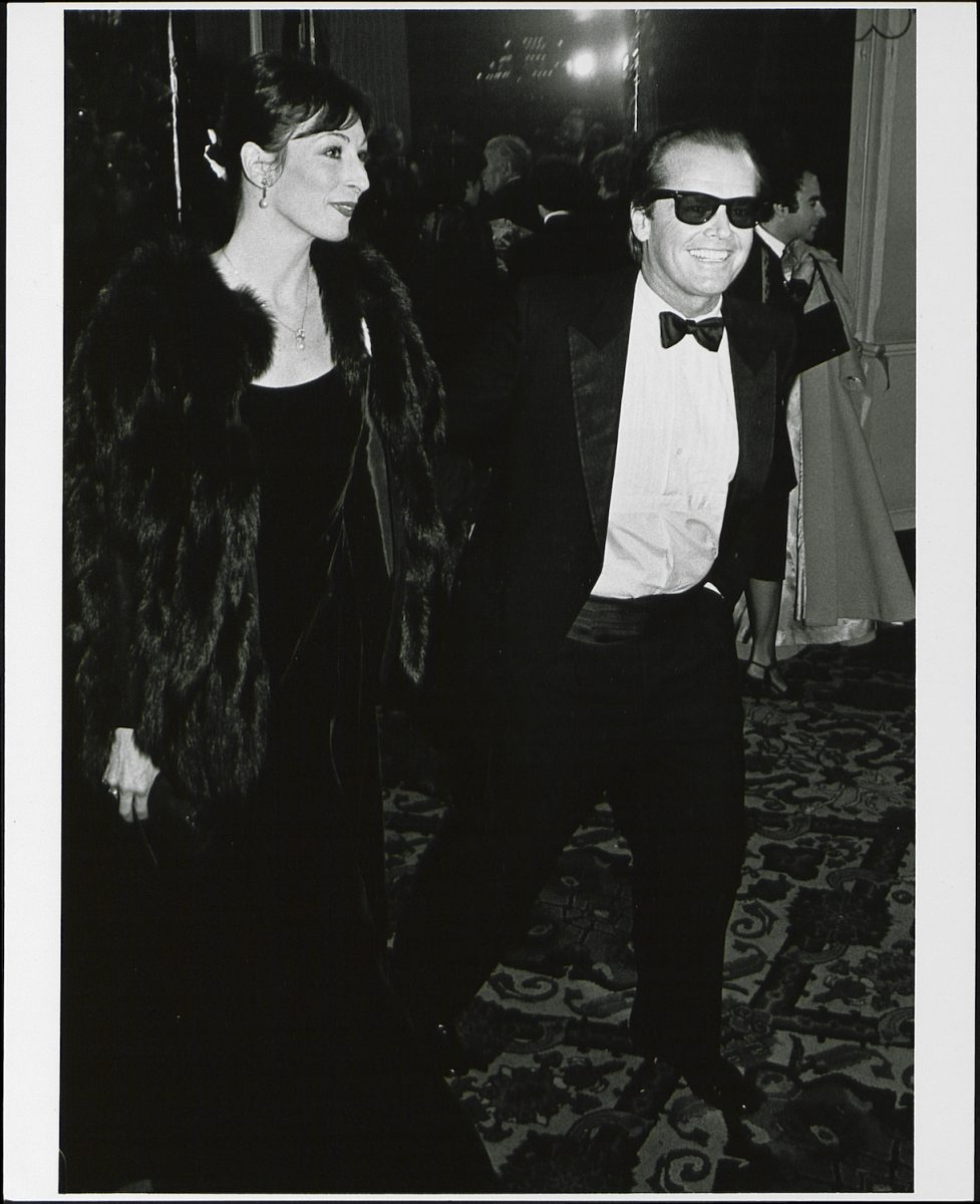Jack Nicholson with his partner, actress Anjelica Huston