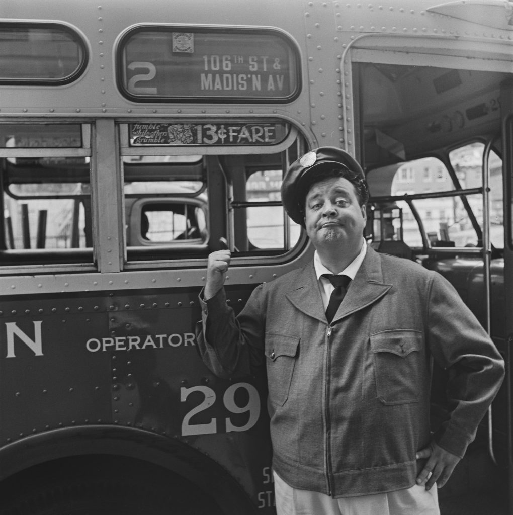 Jackie Gleason appears in promotional photos for 'The Honeymooners'