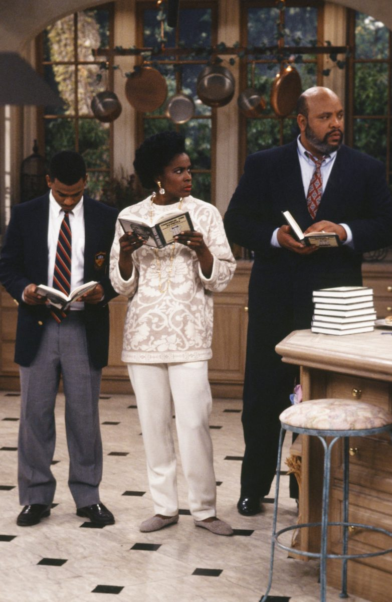 Janet Hubert with Alfonso Ribeiro and James Avery