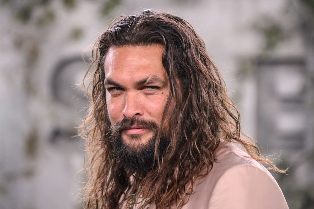 """Jason Momoa arrives for Apple TV+ world premiere of """"SEE"""" at the Fox Regency Village Theater in Los Angeles on October 21, 2019."""