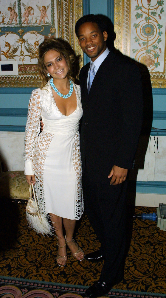 (L-R) Jennifer Lopez and Will Smith smiling