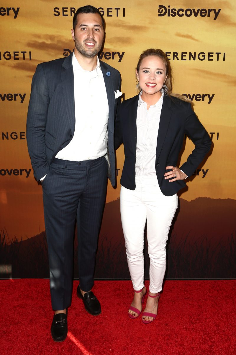 Jeremy Vuolo and Jinger Duggar attend the Los Angeles Special Screening Of Discovery's 'Serengeti'
