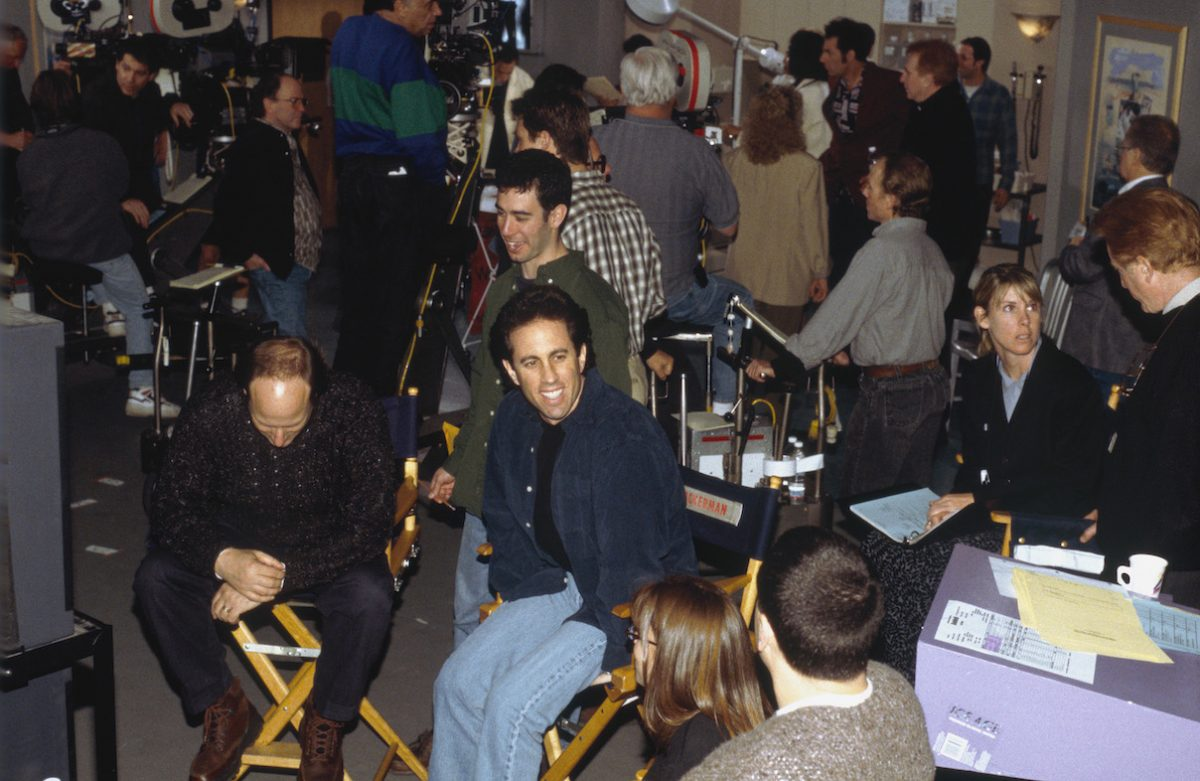 Jerry Seinfeld on the set of 'Seinfeld' 'The Burning' episode