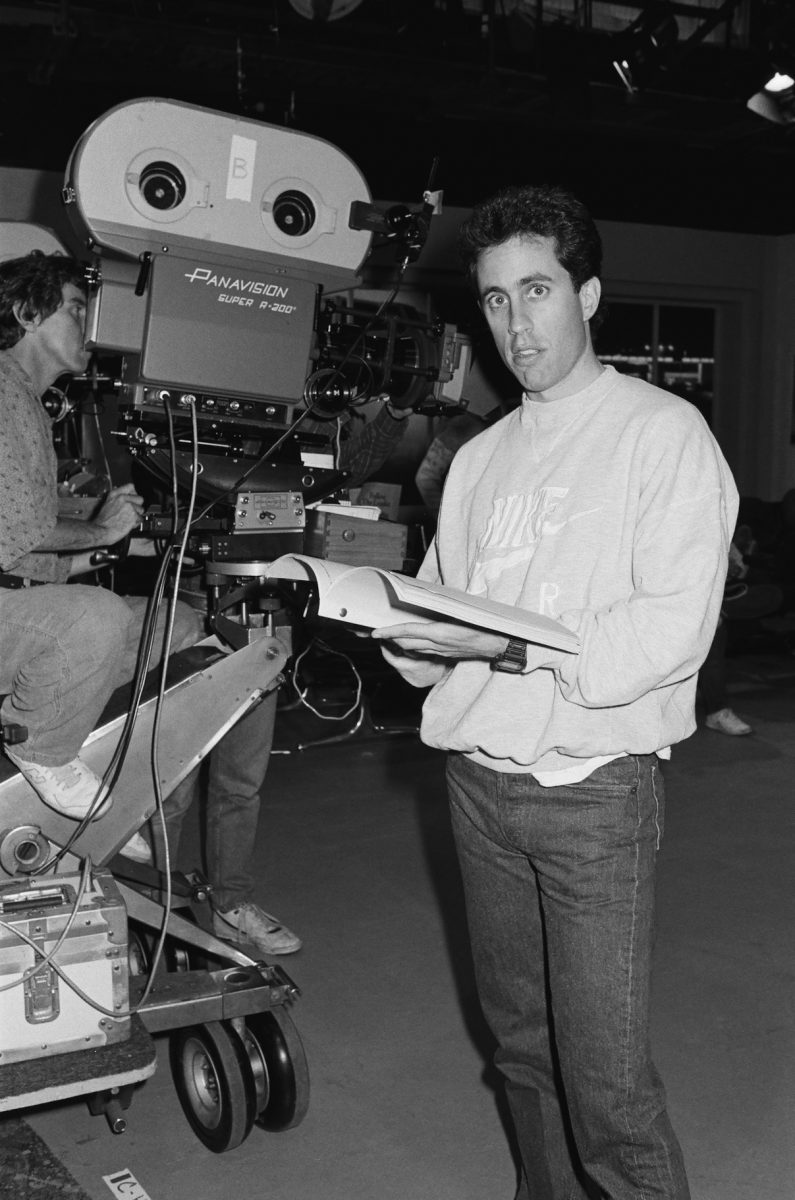 Jerry Seinfeld on the set of the 'Seinfeld' pilot