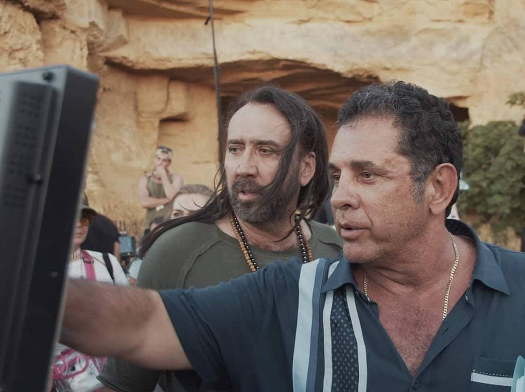Jiu Jitsu director Dimitri Logothetis and Nicolas Cage