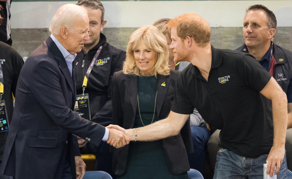 Joe Biden Jill Biden Prince Harry