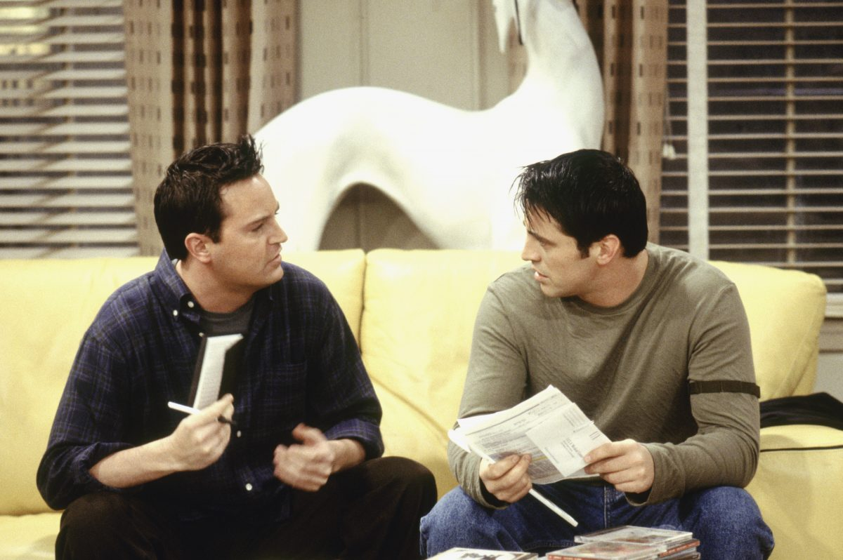 Joey and Chandler on Friends
