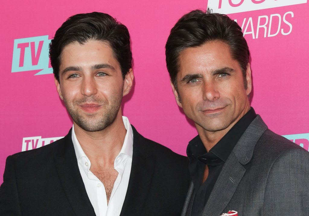 Actors Josh Peck and John Stamos attend the TV Land Icon Awards