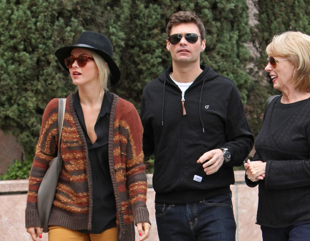 Ryan Seacrest and Julianne Hough are seen on Dec. 23, 2012