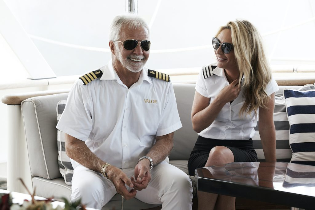 Kate Chastain and Captain Lee Rosbach