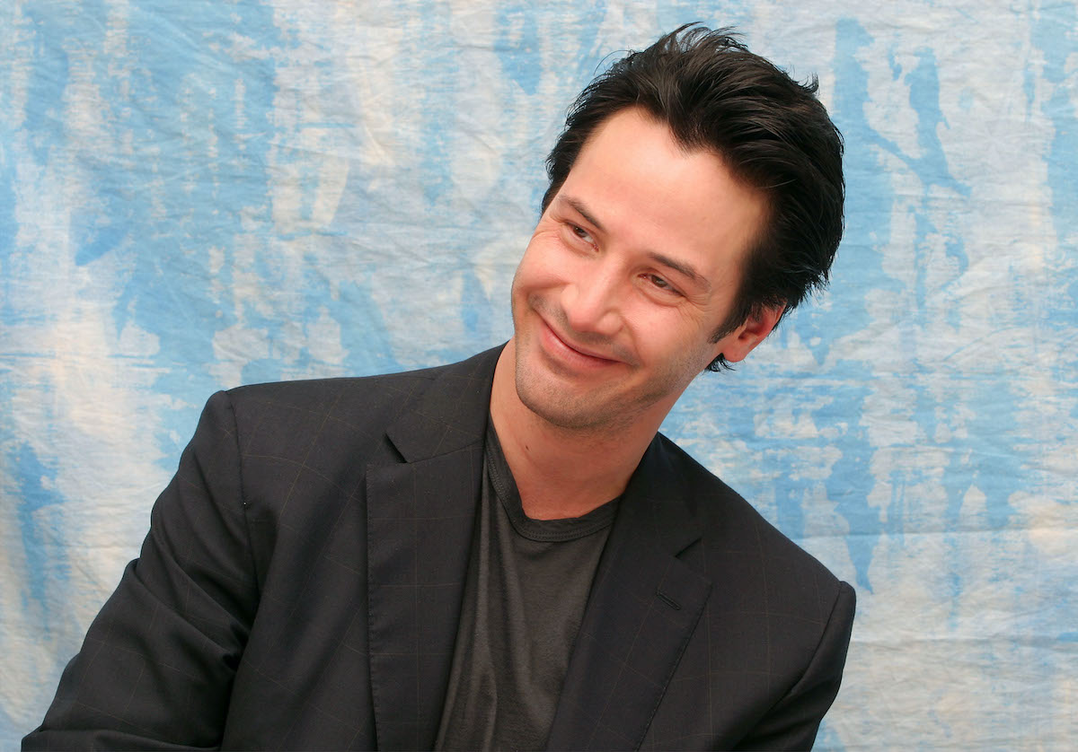 Keanu Reeves at an event for 'The Matrix: Revolutions'