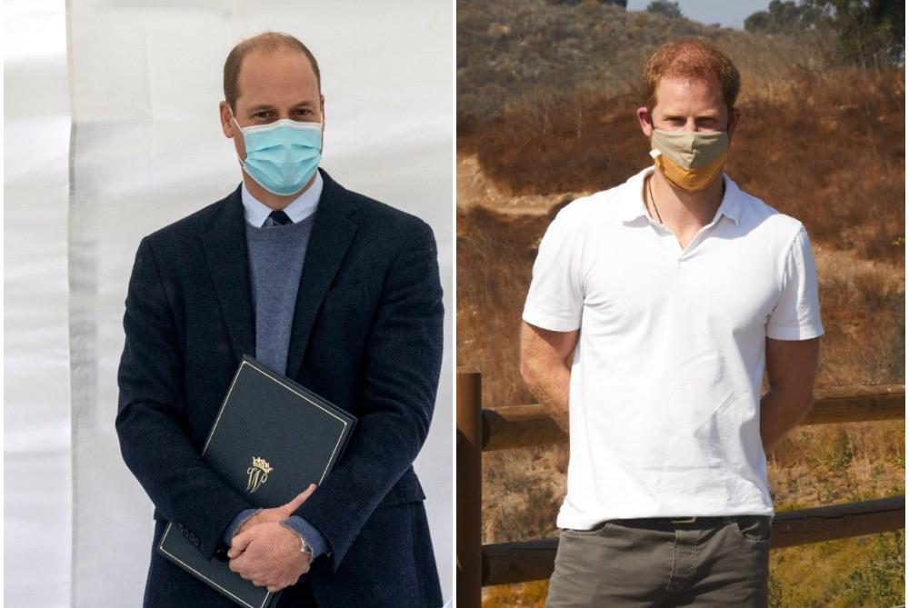 (L) Prince William, (R) Prince Harry
