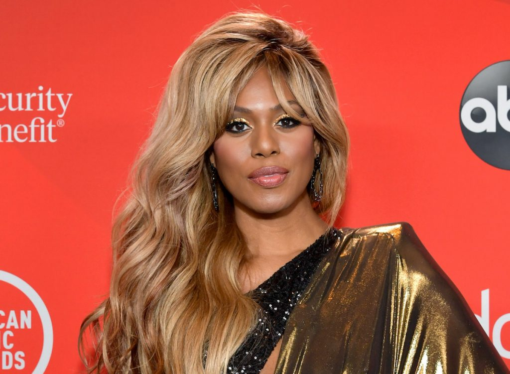 Laverne Cox attends the 2020 American Music Awards on November 22, 2020 in Los Angeles, California   Emma McIntyre/AMA2020/Getty Images for dcp