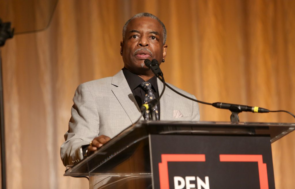 LeVar Burton speaks onstage during the 29th Annual PEN America LitFestGala at Regent Beverly Wilshire Hotel
