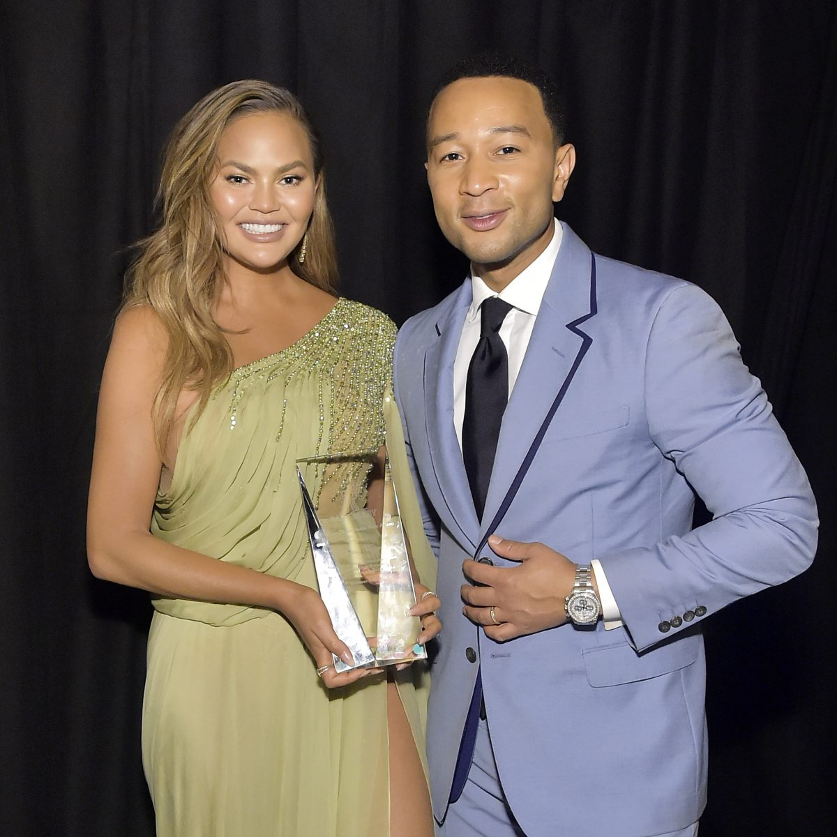 Chrissy Teigen and John Legend attend the 2019 Baby2Baby Gala presented by Paul Mitchel