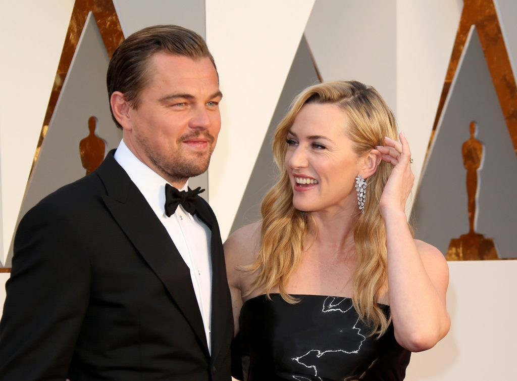 Leonardo DiCaprio and Kate Winslet attend the 88th Annual Academy Awards
