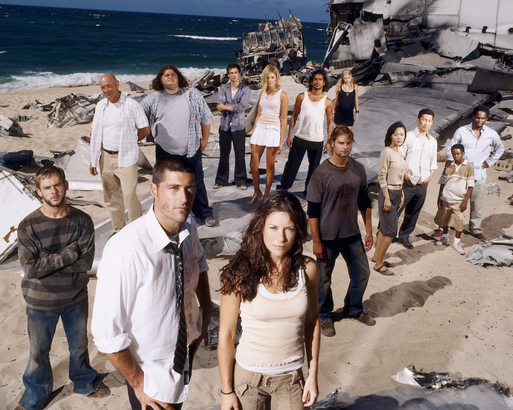 The cast of 'Lost' in the season 1 premiere.