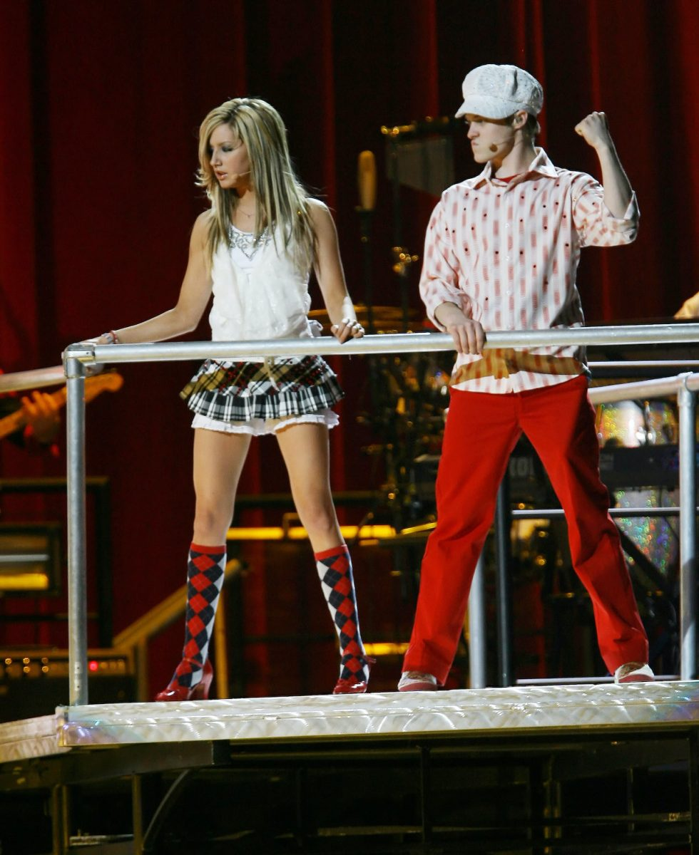 """Ashley Tisdale and Lucas Grabeel during """"High School Musical"""" In Concert"""