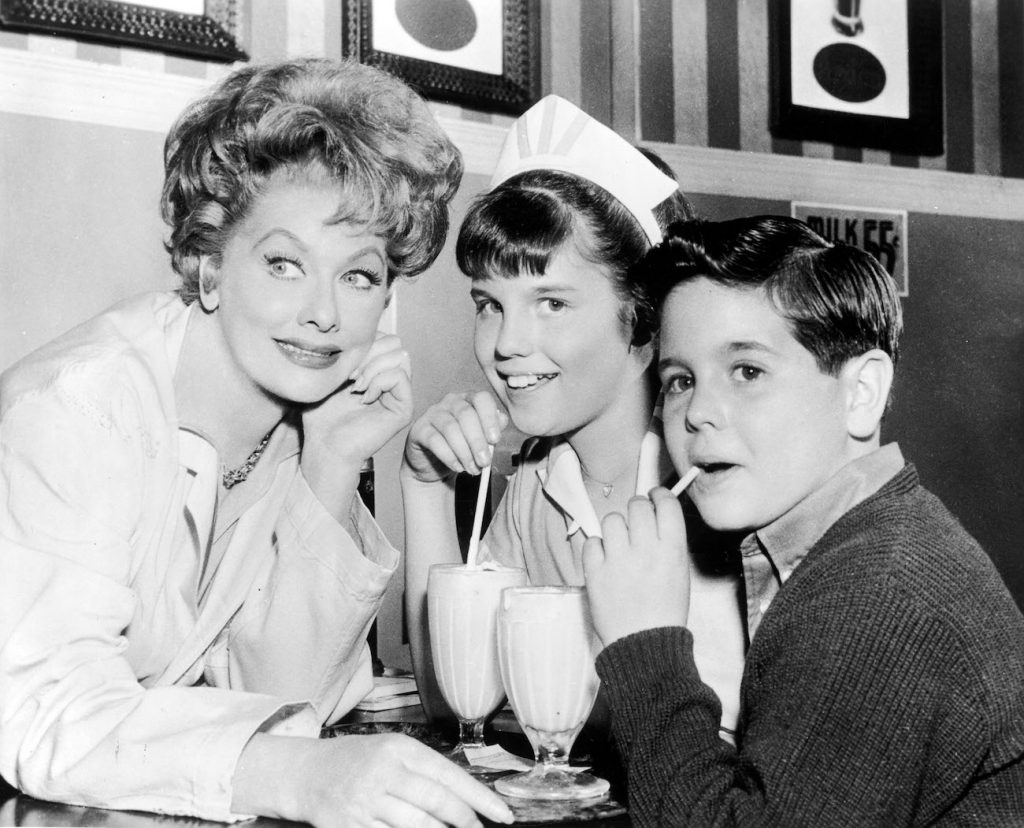 Lucille Ball, Lucie Arnaz and Desi Arnaz, Jr.