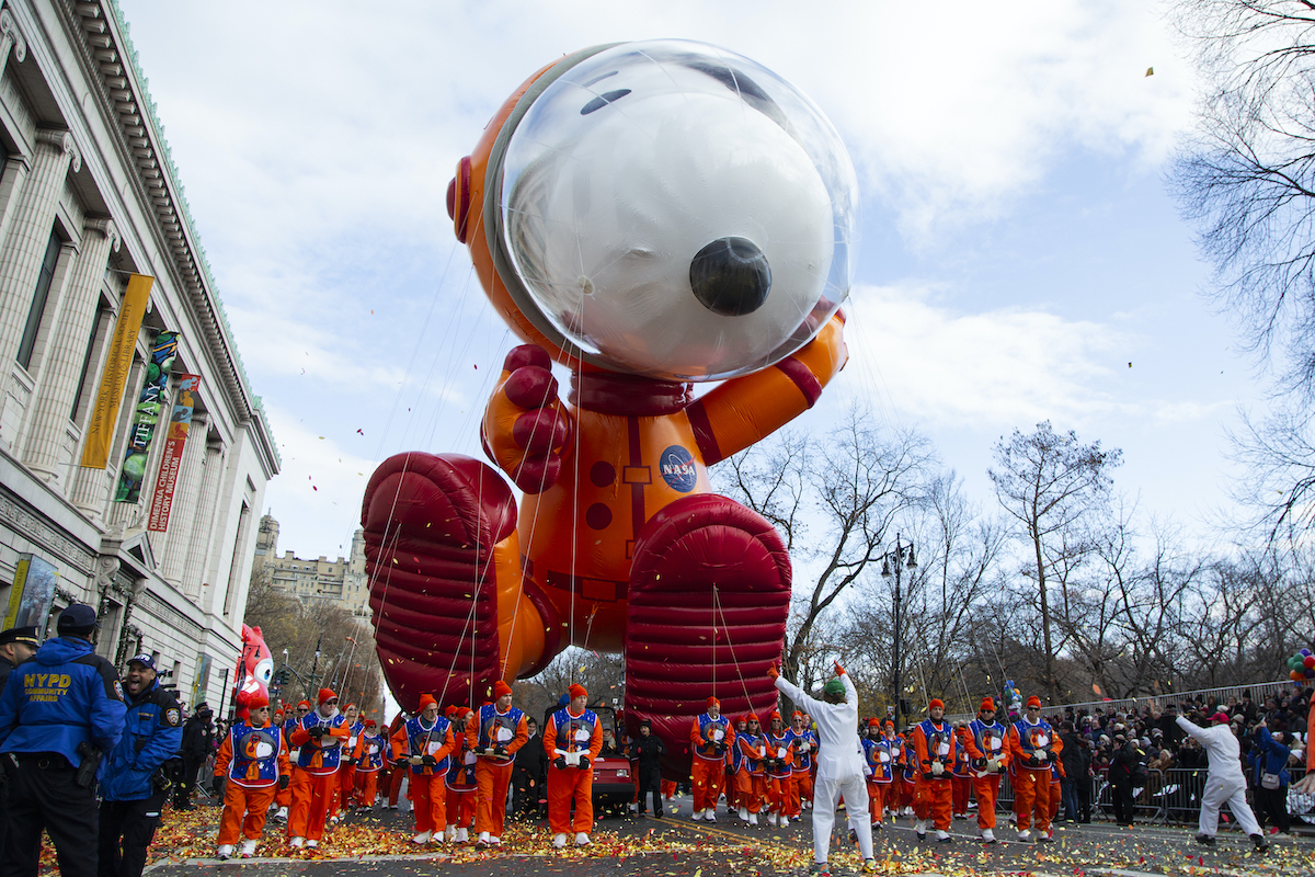 Astronaut Snoopy balloon at the 93rd Macy's Thanksgiving Day Parade in New York City on Thursday, November 28, 2019