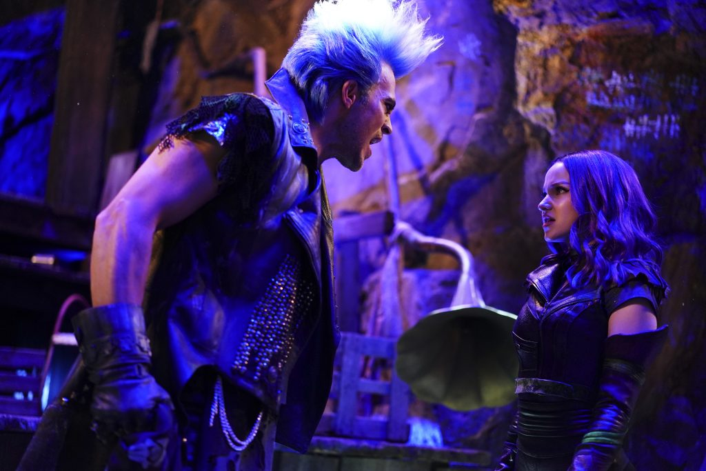 Characters Hades and Mal from Disney Channel's original movie, 'Descendants 3'