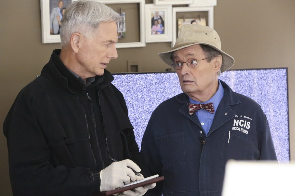 Mark Harmon and David McCallum on the set of NCIS |  Patrick McElhenney/CBS via Getty Images