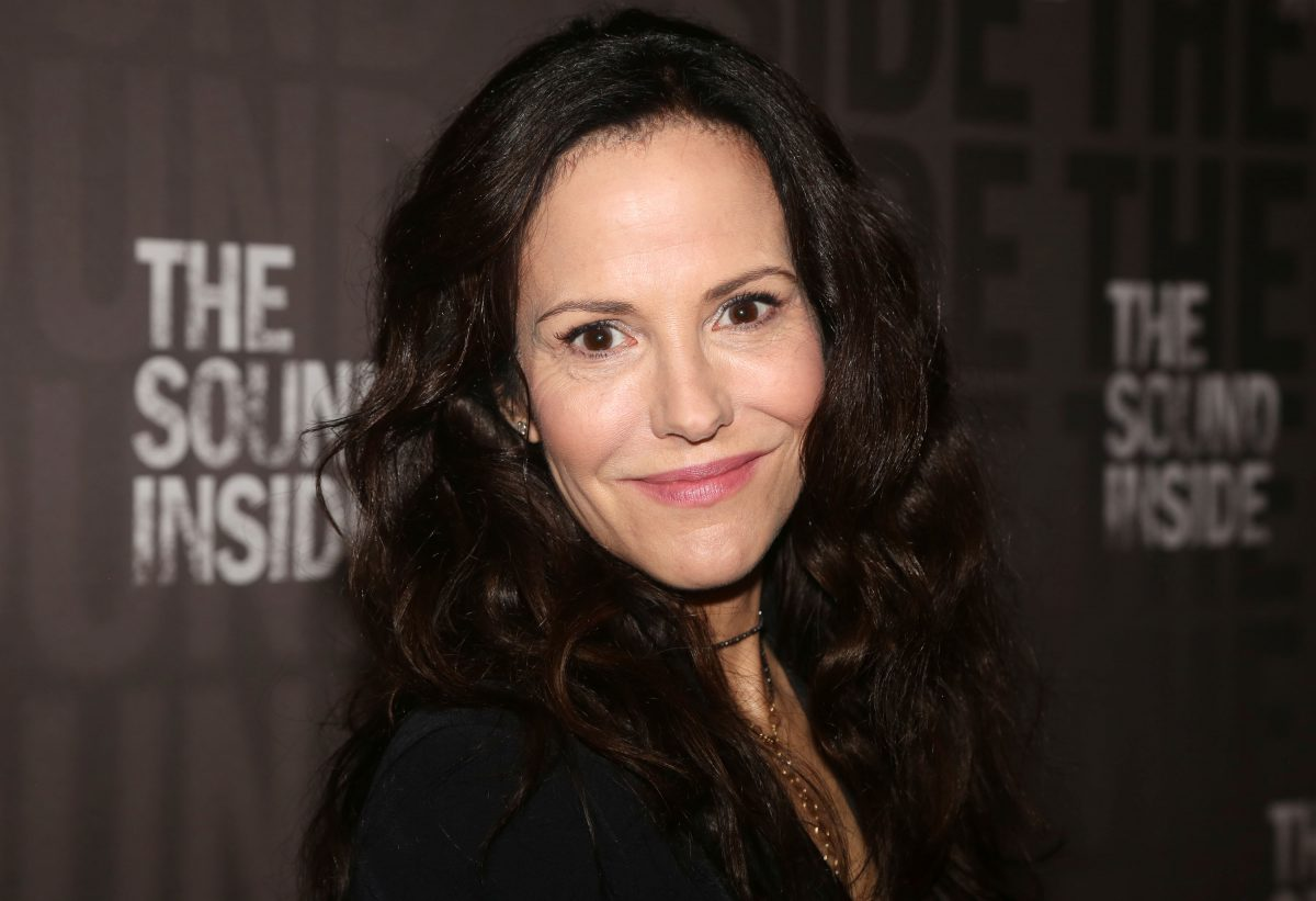 """Mary-Louise Parker poses at the opening night of the new play """"The Sound Inside"""" on Broadway at Studio 54 Theatre on October 17, 2019 in New York City. ("""