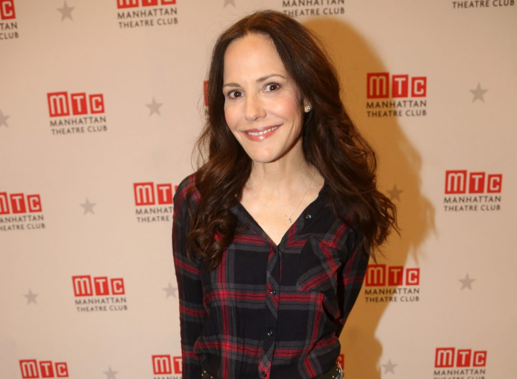 "Mary-Louise Parker poses at a photo call and press day for the play ""How I Learned To Drive"" on Broadway at The Manhattan Theatre Club Rehearsal Studios on February 28, 2020 in New York City 