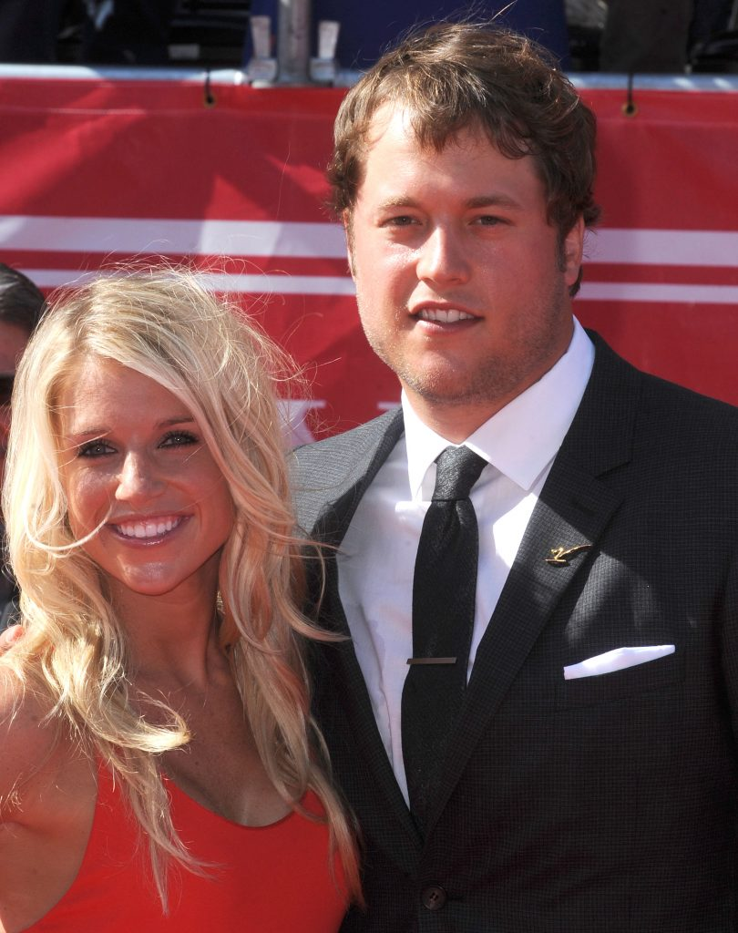 Matthew Stafford and then-Kelly Hall at ESPYS