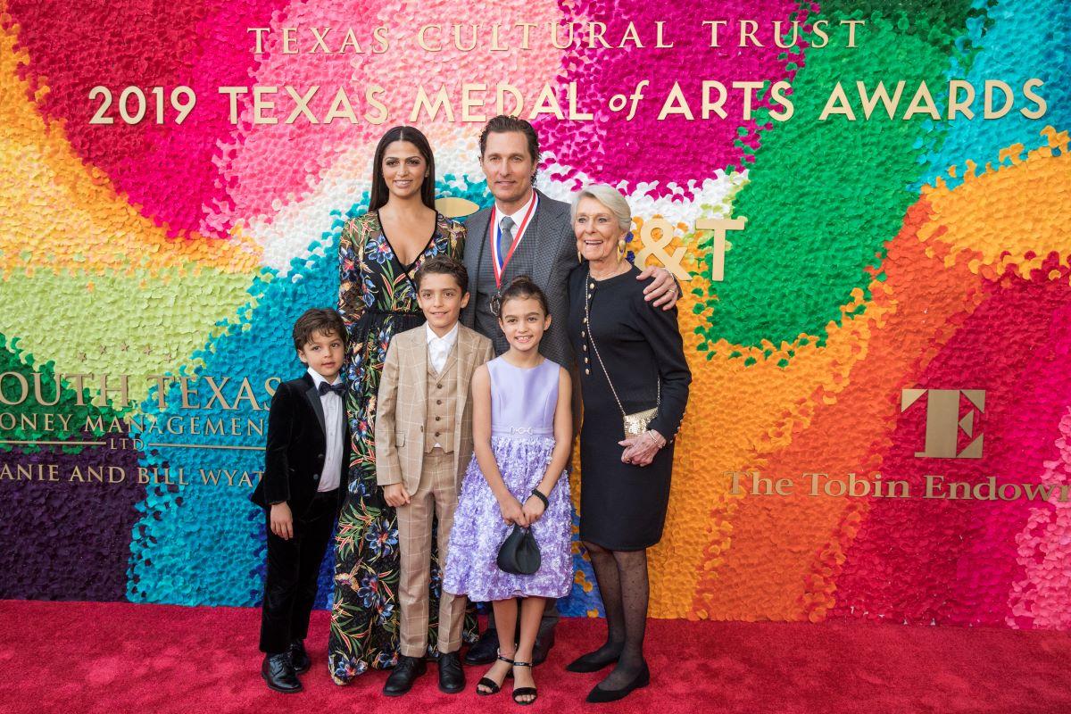 Matthew McConaughey and his family