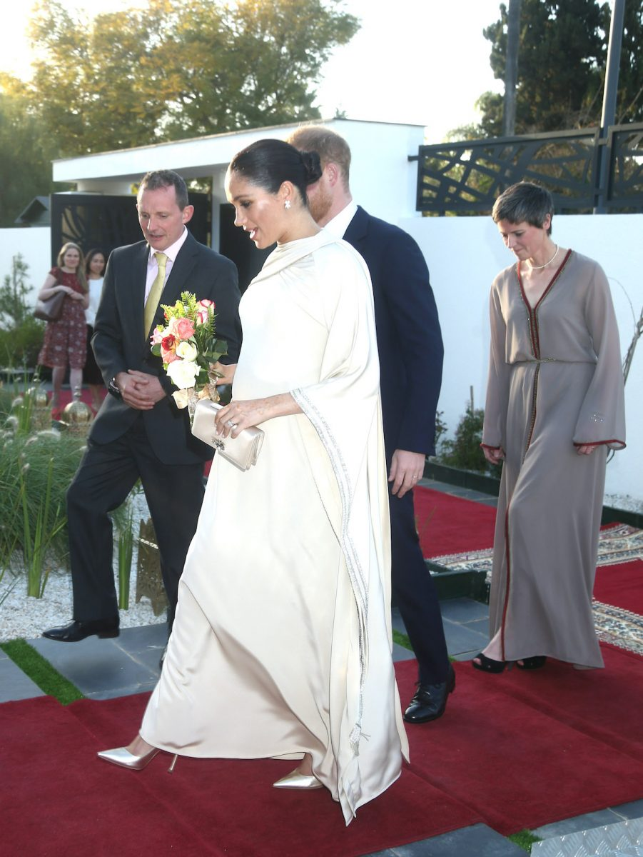 Meghan Markle and Prince Harry arrive at a reception in Morocco