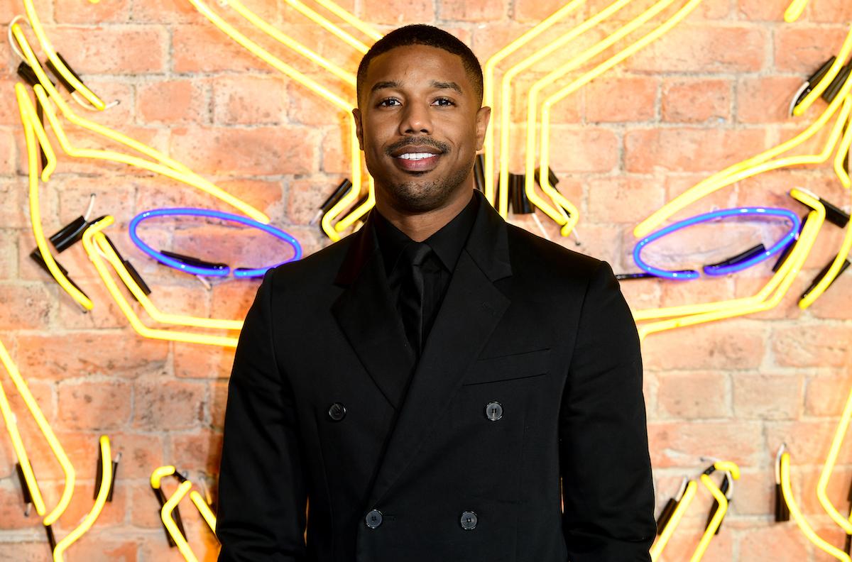 Michael B. Jordan at the 'Black Panther' European premiere