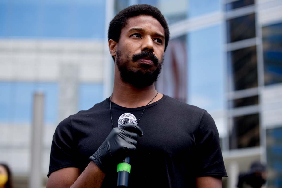 Michael B. Jordan attends a Black Lives Matter protest