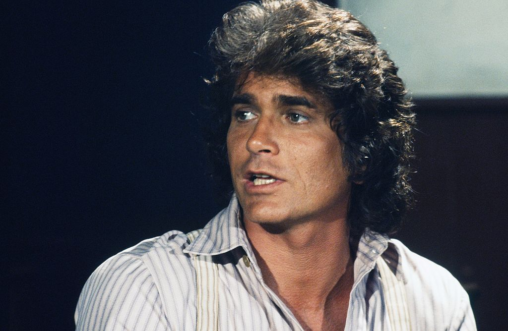 Michael Landon looking to the left on 'Little House on the Prairie'