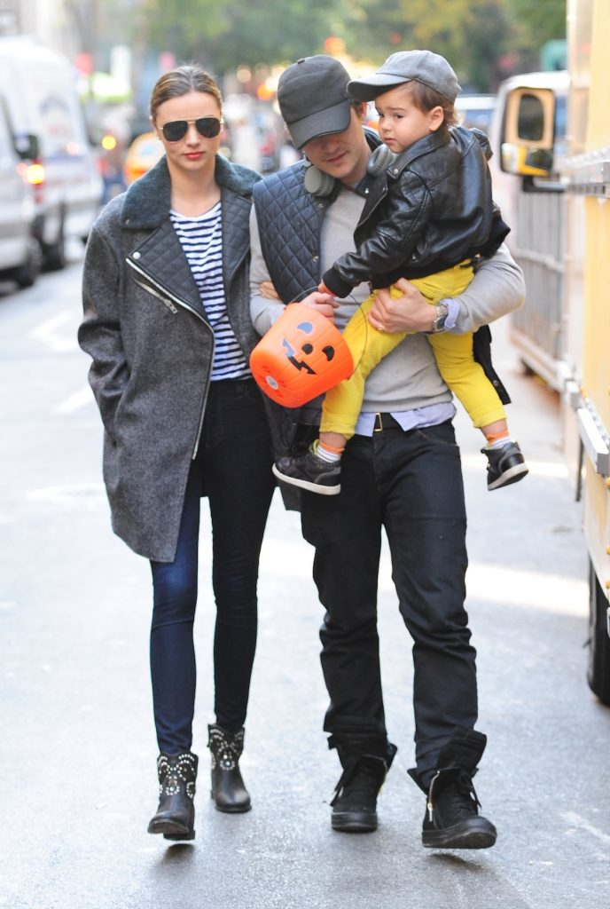 Miranda Kerr and Orlando Bloom with their son Flynn