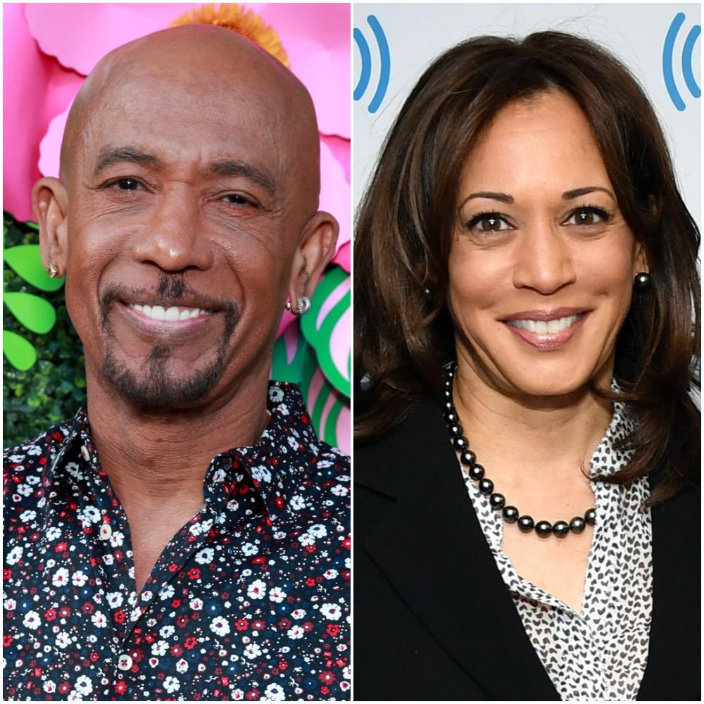 Montel Williams and Kamala Harris