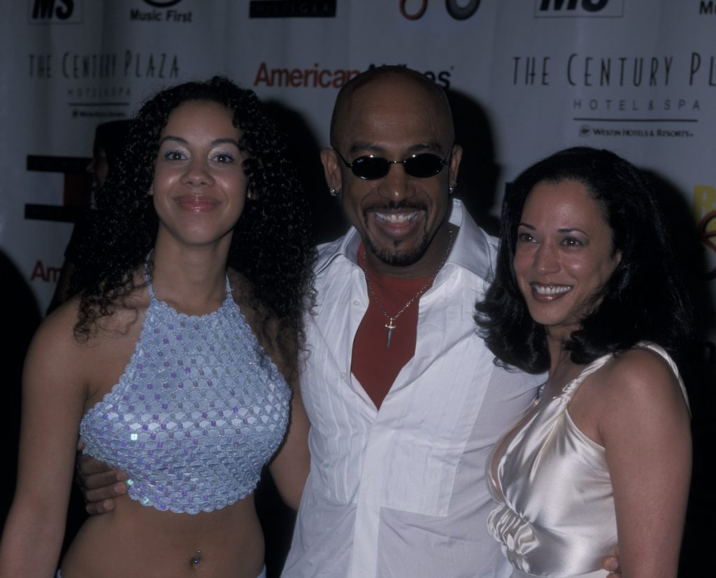 Montel Williams with his daughter Ashley Williams and Kamala Harris