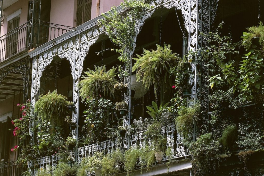 Balcony of a house, French Quarter, New Orleans