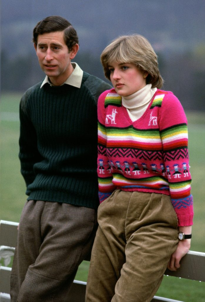 Prince Charles with then-fiancee Lady Diana Spencer