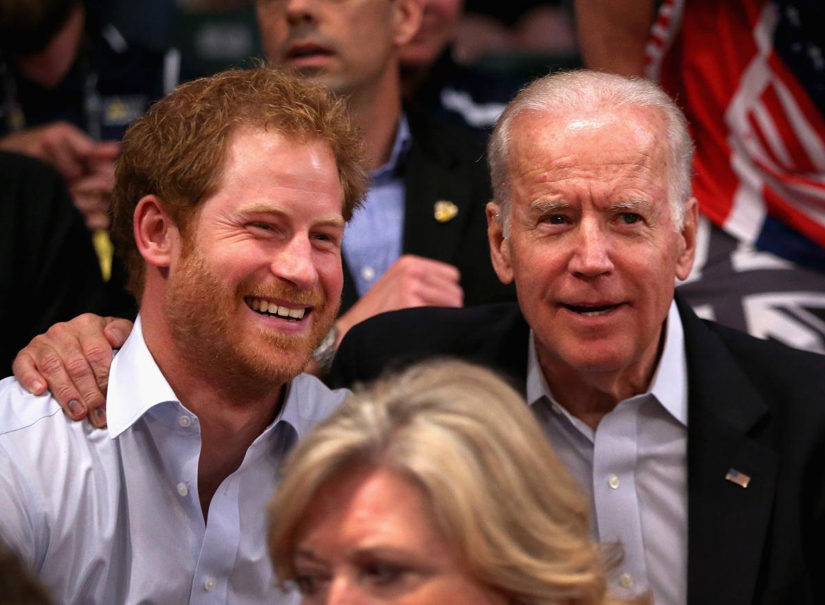 Prince Harry Joe Biden