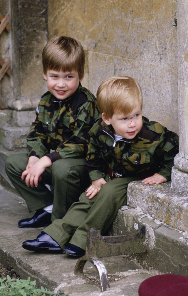 Prince Harry and Prince William in 1986