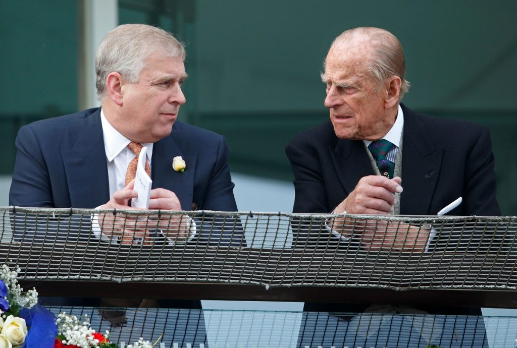 Prince Philip and Prince Andrew