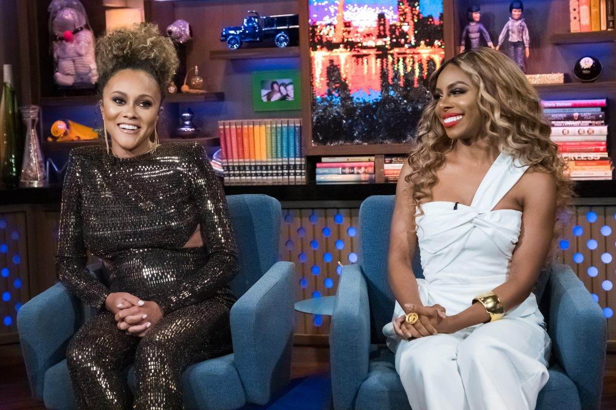 'Watch What Happens Live with Andy Cohen' -- Pictured (l-r): Ashley Darby and Candiace Dillard
