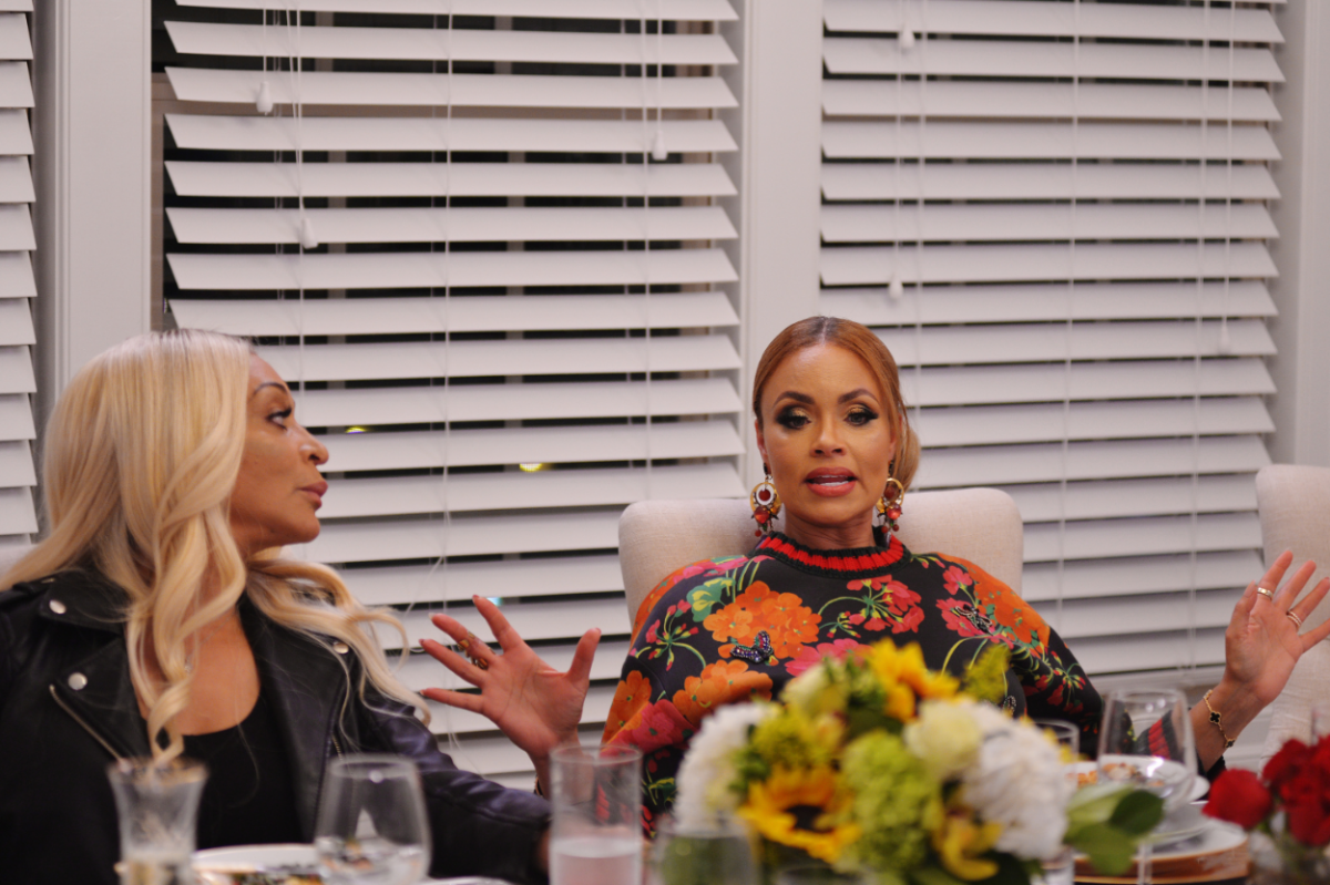 'The Real Housewives of Potomac' -- Pictured: (l-r) Karen Huger, Gizelle Bryant