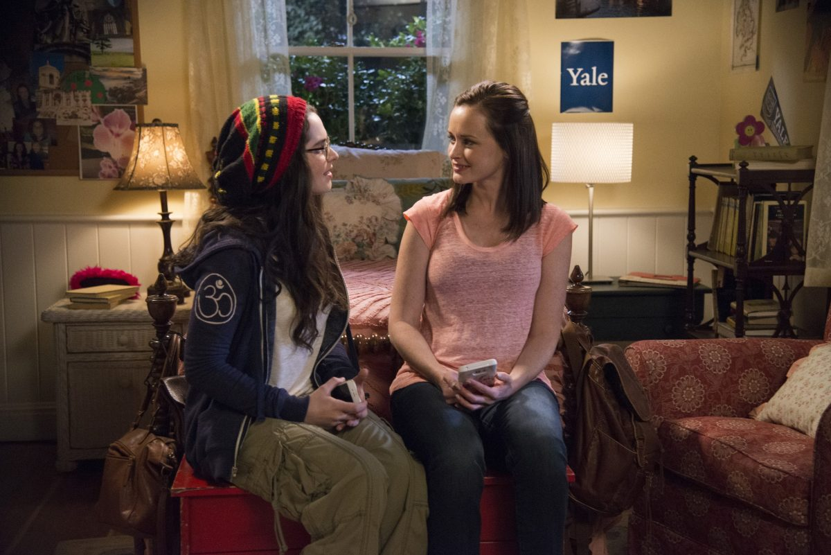 April Nardini and Rory Gilmore in 'Gilmore Girls: A Year in the Life'