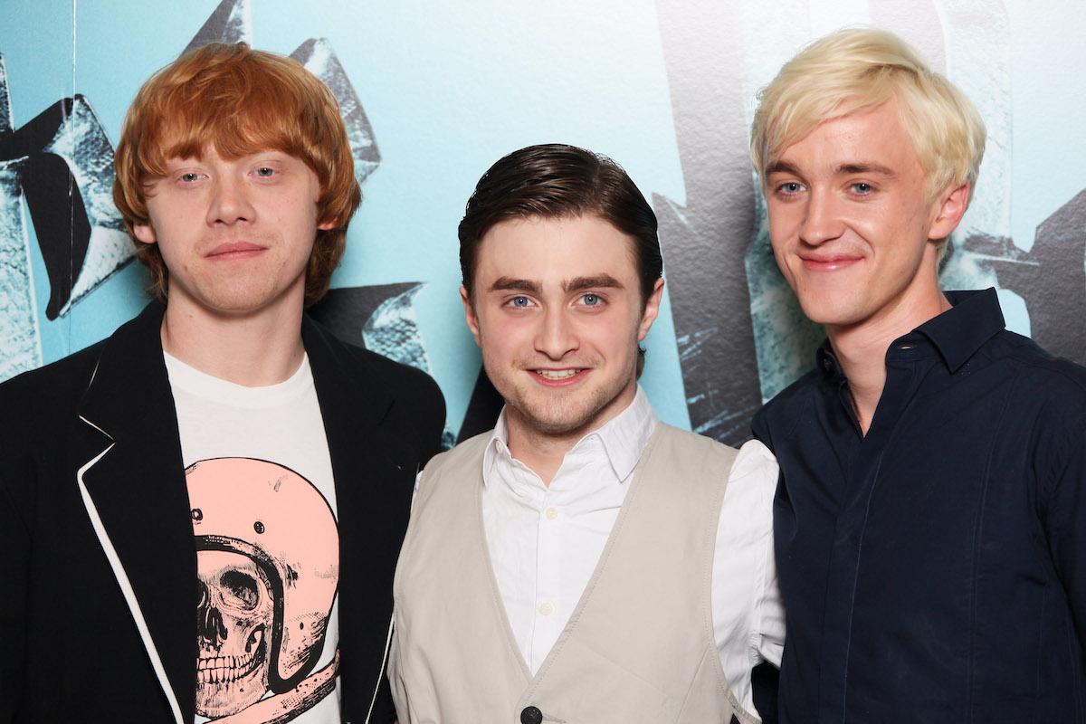 Rupert Grint, Daniel Radcliffe, and Tom Felton