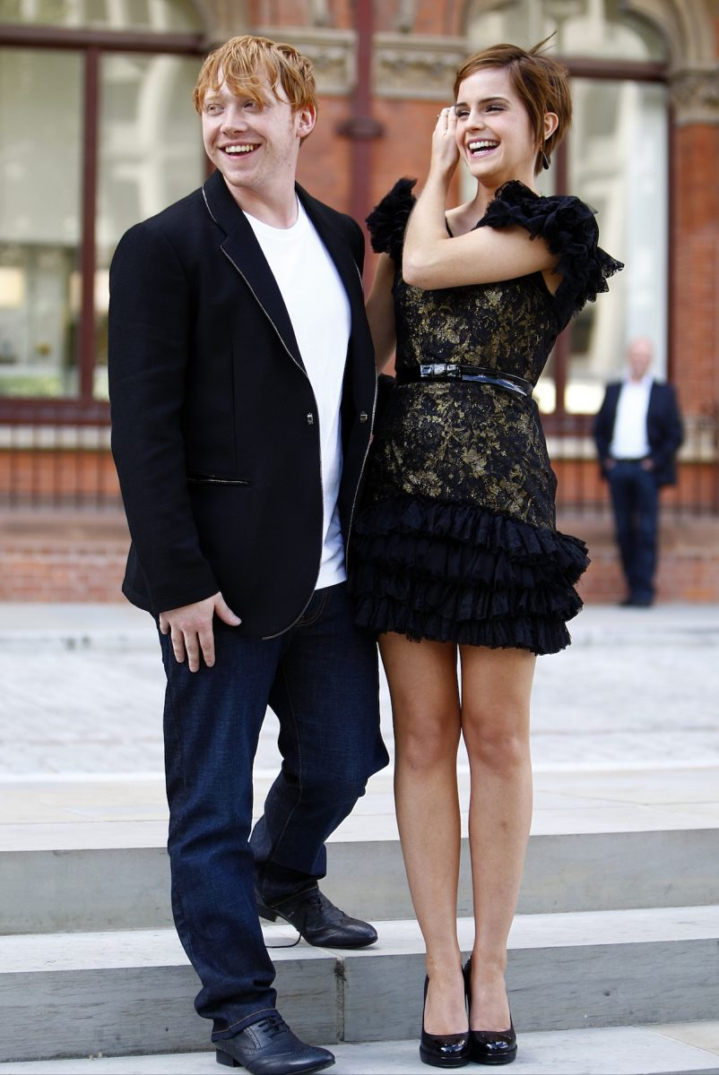 Rupert Grint and Emma Watson arrive at Cocktails with the Cast of 'Harry Potter and The Deathly Hallows Part 2'